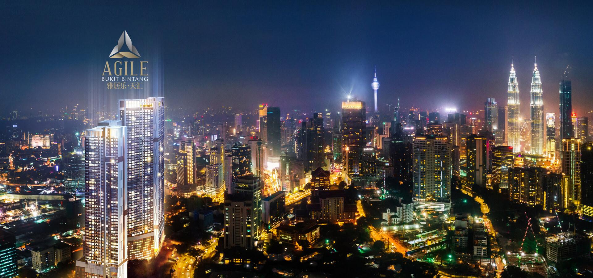 agile-bukit-bintang-facing-klcc-view-night-facade